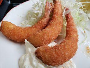 ニュー飯塚の海老フライ定食