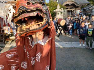 熊野神社の立岩恵比寿