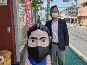 アベノマスクとブンブン人形マスク