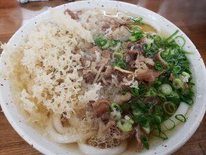 桂川の恵比寿で肉うどん🍜