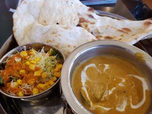 本格インド料理ルパで選べる日替わりカレー、野菜カレー玉ねぎベースだよ